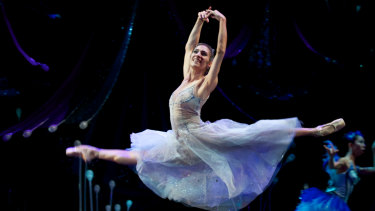 Queensland Ballet principal artist Laura Hidalgo in A Midsummer Night's Dream.