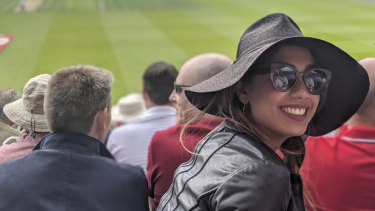 Australian all the way: The reporter at the Ashes at Lord's Cricket Ground.