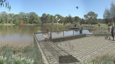Varroville site and artist's impression of Macarthur Memorial Park.
