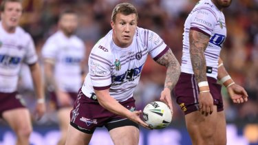 Homecoming: Trent Hodkinson wants to wear the Manly No.6 jersey again, nine years after starting his NRL career at the club.