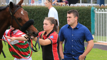 Trainer Scott Singleton will give two-year-old filly Baiyka a run in competitive company.