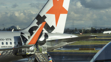 The COVID-19 infected man flew to Melbourne on a Jetstar flight.