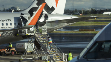 A number of Jetstar and Qantas flights between Sydney and Melbourne will be cancelled as a result of the restrictions.