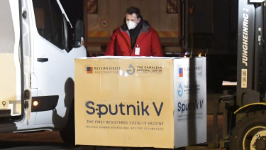 A shipment of Russia's Sputnik V vaccine arrives in Slovakia.