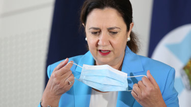Queensland Premier Annastacia Palaszczuk stressed the importance of hotel quarantine workers getting the jab first.