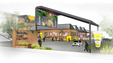 An artist's impression of what the multi-use site would eventually look like.
