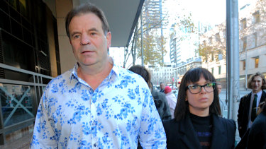 Setka arrives at court with his wife Emma Walters.