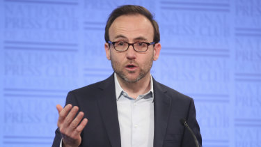 Adam Bandt says Labor has abandoned its core beliefs by backing the tax cuts.
