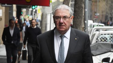 Holding Redlich partner Ian Robertson arrives at ICAC on Monday.