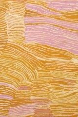 Makinti Napanangka, Untitled (Rockhole Site of Lululnga), 2001(detail)