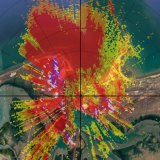 Real-time monitoring by the Department of Water and Environmental Regulation shows big plumes of dust blanketing Port Hedland.