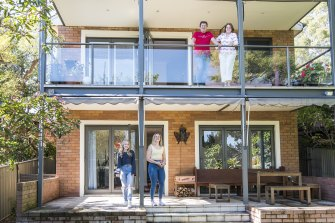 Dana Reed and her husband Rodney at their inner west house  with their daughters Nicole and Ashley, who have moved out.
