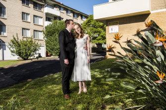 Newly weds Jonathon Anslow and Bridget McNamara.