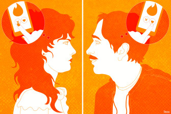 Swiping left and swiping right: the Tinder lingo. Illustration: Dionne Gain