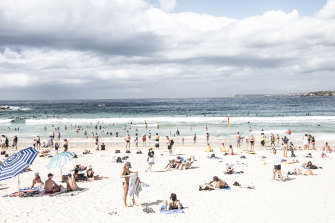 There were fewer beachgoers on Saturday morning st Bondi Beach before the government announced plans to shut the area down.