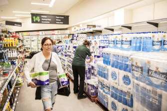 Coronavirus hoarding has helped push inflation to its highest level in almost 6 years as shoppers paid a premium for their toilet paper and sanitiser.