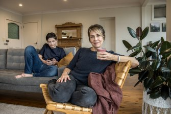 Anne,  her partner and their two teenagers live in a rented unit in the lower north shore,