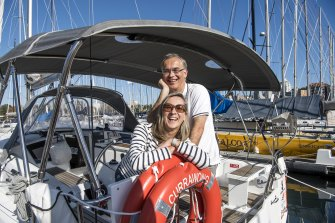 Uwe and Christine Roehm are happy owners of Currawong, a Beneteau Oceanis 38.1 yacht, which they share with seven others