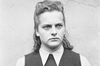 """SS guard Irma Grese, who became known as the """"Beautiful Beast"""" and the """"Hyena of Auschwitz""""."""