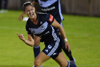 Laura Brock made her return for Melbourne Victory after almost a year on Saturday.