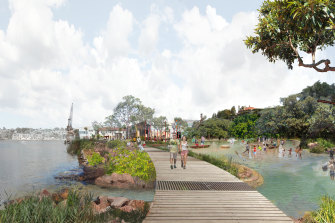 "The ""tidal terrace"" would incorporate harbour water, a boardwalk and native plants."