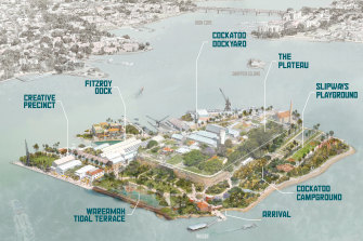 """The draft concept plans, published for community feedback, include a series of """"distinct but interconnected"""" areas."""