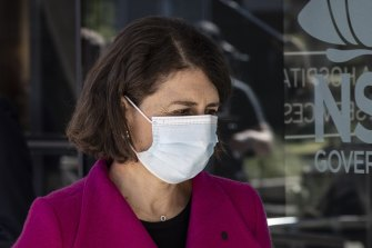 New South Wales Premier Gladys Berejiklian said it was concerning how many infected people were in the community.