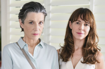 Harriet Walter (left) and Frances O'Connor in The End, a drama made possible at least in part by Foxtel's Australian drama obligations.