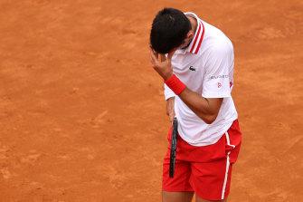 Novak Djokovic lost his cool at the Italian Open.