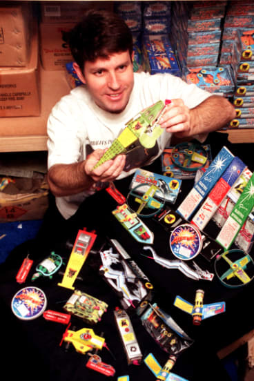 Firework sales, such as these marketed for children in 1999, were a big part of Fyshwick before the practice was made illegal.