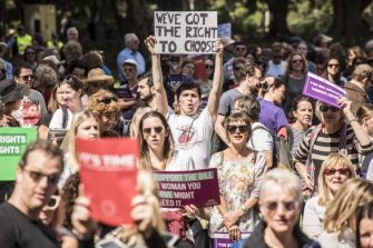 About 1000 people attended a rally in Hyde Park in support of decriminalising abortion.