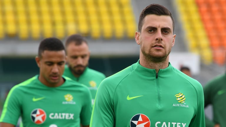 Undercooked: Tomi Juric enters Australia's Kuwait clash with little game time.