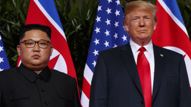 US President Donald Trump meets North Korean leader Kim Jong-un.