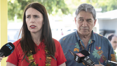 Winston Peters, right, has taken the heat off Australia put on by Prime Minister Jacinda Ardern, and asked leaders to question China's emissions.