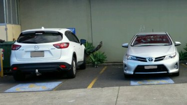 A report of people parking in disabled spots without a permit in Rockdale.