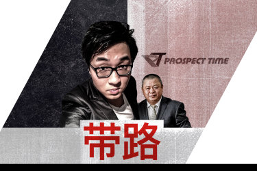 """Bo """"Nick"""" Zhao and Brian Chen, who he alleged was trying to get him into Federal parliament."""