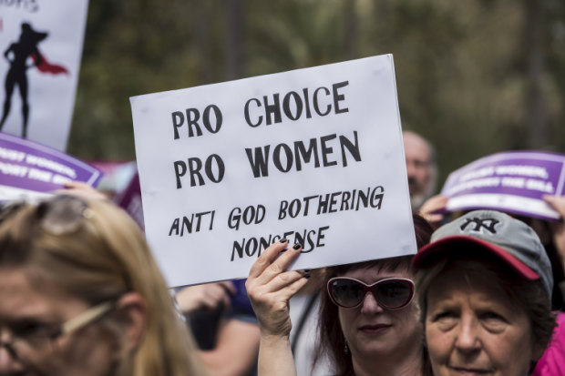 A pro-choice rally was held in Hyde Park on Saturday in support of the decriminalisation bill.