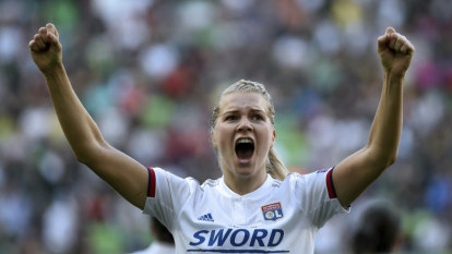 Hegerberg hat-trick fires Lyon to fourth straight Champions League