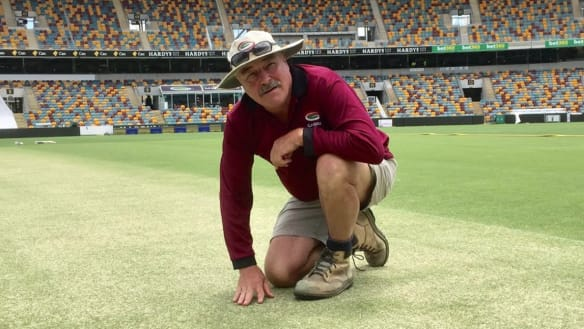 Gabba curator Kevin Mitchell prepares for his last Ashes