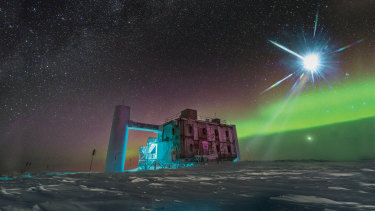 The IceCube Lab at the South Pole is part of the search.
