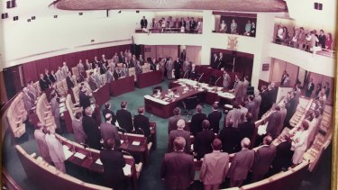 Queensland Parliament sat in the Undumbi Room in the Annexe for about four years during the late 1970s.