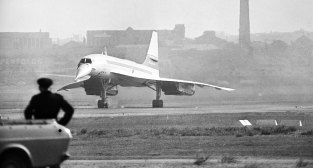 Concorde touches down for the first time in Sydney in June 1972.