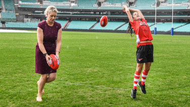 Former federal sports minister Bridget McKenzie (left) has come under fire for handing over sporting grants in marginal seats.
