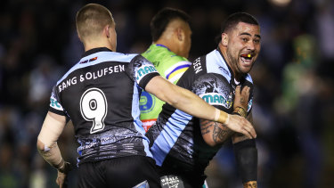 """Stamp of approval: Andrew Fifita has said his """"little brother"""" Matt Lodge """"thoroughly deserves"""" an Origin spot."""