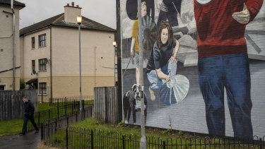Republican murals depicting The Troubles, in the Bogside area of Derry.