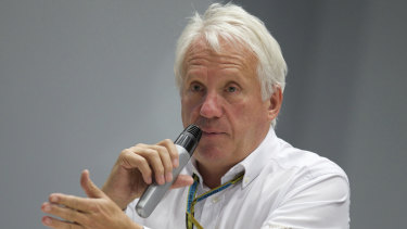 Formula One director Charlie Whiting died from a pulmonary embolism. He was 66.