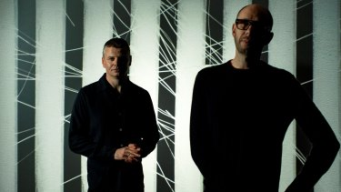 The Chemical Brothers, Ed Simons (left) and Tom Rowlands, return to Australia next month.