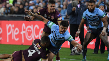 'There's the amazing parts when he wanted to score and he did, like nobody else can': Brad Fittler is just one fan of what Latrell Mitchell brings to the game.