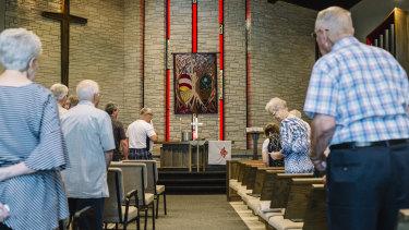 The First Presbyterian Church in Mount Pleasant, Iowa.