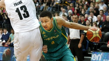 Ben Simmons in action for the Boomers in 2013.